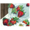 Pintura directa del arte de la fábrica, pintura al óleo de la decoración, todavía del arte pintura excelente de la fruta de la vida (fresa)