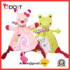 Giocattolo del Hankie di Teether del bambino della peluche del coniglio di colore rosa di sicurezza di En71 ASTM