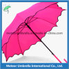Cor Change Special Rain Flower Straight Umbrella em plutônio Coated Handle
