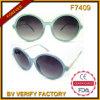 Óculos de sol redondos do vintage F7409 o mais atrasado com templo do metal