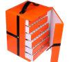 Caixa cosmética Multilayer de couro alaranjada da gaveta (PB-086)