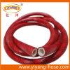 Boyau agricole de jet de PVC de rouge à nervures à haute pression flexible