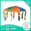 ملعب تجهيز مزح روضة أطفال لعبة لعبة قوس قزح مظلّة هبوط