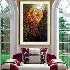 Regalo animal del leopardo del paisaje del bordado de la puntada de la cruz de la pintura del diamante para los cabritos