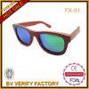 نظّارات شمس أصليّ أحمر خشبيّة مع زرقاء يستقطب [رفو] عدسة