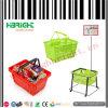 Panier de main en plastique d'achats de supermarché