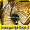 Interior de lujo Escalera de caracol Barandilla de escalera de aluminio de cobre