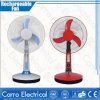 16 polegadas 12V 35W Todo em C.C. Motor Solar Tower Desk Rechargeable Electric Fan de Um com Battery