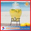 Drink di vetro Dispenser con Ceramic Lid e Base