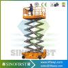 La plataforma hidráulica automotora Scissor la elevación con el certificado del Ce