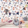 Het Behang van de Slaapkamer van de baby, het Speciale Ontwerp van het Behang (C10505)