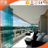 Анодируя дверь сползая стекла серебряного цвета алюминиевая для балкона
