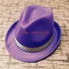 Chapéu roxo impresso costume do Fedora da palha