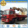 Dongfeng 10 dreht den 15 t-LKW, der mit Kran mit Bohrgerät und Korb eingehangen wird