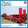 3 Radachsen Heavy Equipment Transport Semi Trailer mit Foldable Ladders