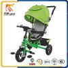 중국 Trike 제조자 조정가능한 닫집을%s 가진 3명의 고무 바퀴 아이들 Trike