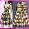 Платье печати самой модной абстрактной V-Шеи печатание барочное
