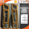 Finestra personalizzata di specialità di legno solido di formato, finestra francese personalizzata con il bello disegno della griglia