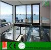 Type résidentiel porte en aluminium de tissu pour rideaux avec la glace Tempered