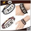 Personalizzato incidere il bio- braccialetto di cuoio magnetico di marchio (HJ2107)