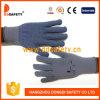 青いPVC点が付いているDdsafety 2017の灰色の綿かポリエステルはさみ金の手袋