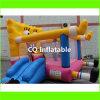 Bouncer inflável de salto colorido do castelo do campo de jogos das crianças ao ar livre