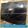 Мрамор Nero Marquina, черные плитки Marquina мраморный для пола/стены