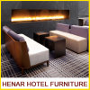 Bancos/asiento del salón del hotel que espera/sofá de madera de la cabina