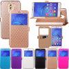 Cubierta de la caja del cuero del color del contraste para el borde de Samsung S7