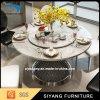 よい価格のステンレス鋼の大理石のダイニングテーブルセット