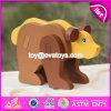 Jogos de madeira novos W14G039 do enigma dos animais das crianças DIY do produto