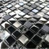 Cubo di vetro nero del mosaico della fabbrica