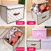 Boîtes de stockage avec la couverture, stockage couvert de tissu avec des couvercles