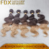 O cabelo brasileiro de venda quente de Ombre da onda do corpo tece (FDXI-BBT) -016