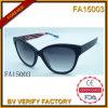 Armature matérielle d'acétate avec les lunettes de soleil polaroïd d'objectif (FA15003)