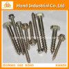 Sujeciones de acero inoxidable 410/304 cabeza hexagonal Tornillo de madera