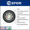 Cable óptico de cinta de aluminio blindado PE doble vaina de fibra / cable de red