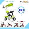 Dreirad des Baby-4in1 mit Stoss-Stab/Regenschirm-Kabinendach-Baby Trike für Kleinkind
