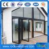 Porta de dobradura de vidro comercial rochosa da entrada