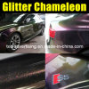 Chameleon Glitter Glossy Vinyl Car Sticker Bubble Free 1.52m*30m