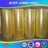 Cinta amarillenta del rodillo enorme de la venta caliente BOPP del fabricante de China