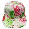 Gorra de béisbol ajustada tela floral de la manera con el pico plano Ne1504