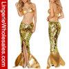 Бюстгальтера Sequin женщин Costume Mermaid Halloween талисмана женское бельё сексуального установленный