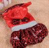 Roupa do animal de estimação - roupa do cão do revestimento de Wadded do leopardo