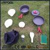 Kit portatif de rangement pour la batterie de cuisine de camping - Ensemble de cuisine non-collant de 11 pièces, Équipement de cuisine extérieure parfait pour le randonnée, la randonnée et le pique-nique (Léger)