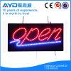 Caixa aberta do sinal do diodo emissor de luz da energia da economia do retângulo de Hidly