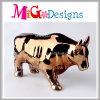 Симпатичный крен деньг Bull керамический с гальванизировать