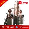 Destilador del cobre del equipo de la destilación de la caldera doble para la ginebra, whisky, brandy