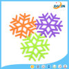 La neige de couleur s'écaille couvre-tapis respectueux de l'environnement de bac de silicones