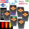 Drahtloser batterieleistung LED WiFi Telefon APP-DMX 4/686in1 RGBWA UVnennwert kann beleuchten
